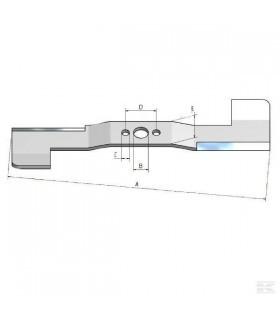 Nóż wymienny 533x63,5x5,1 mm | Kramp - 3