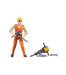 Zabawka figurka robotnika z akcesoriami | Bruder